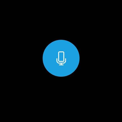 Widok ekranu dyktafonu